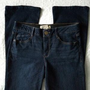 "Democracy ""Ab""solution dark wash bootcut jeans 12"